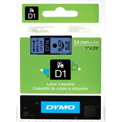 DYMO D1 Schriftbandkassette schwarz/blau, 24 mm x 7 m