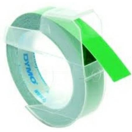 DYMO Prägeband 3D, 9 mm breit, 3 m lang, grün, glänzend
