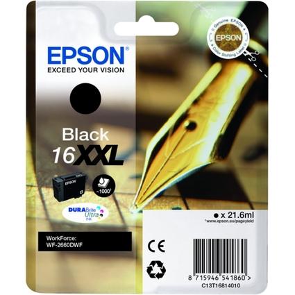 Original Tinte 16XXL für EPSON WorkForce WF-2630WF, schwarz