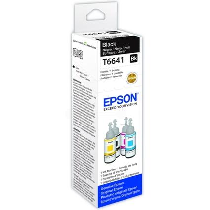 Original EPSON Tinte T6641 für EcoTank, bottle ink, schwarz
