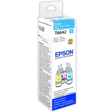 Original EPSON Tinte T6642 für EcoTank, bottle ink, cyan