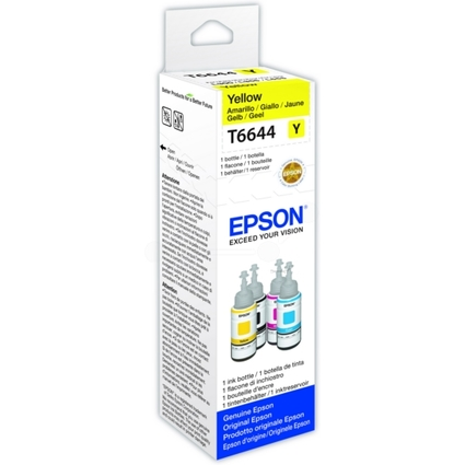 Original EPSON Tinte T6644 für EcoTank, bottle ink, gelb
