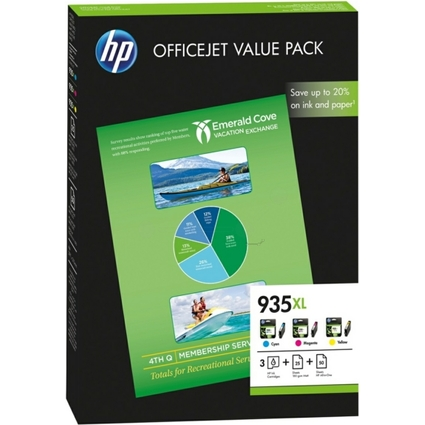 Original Tinte hp 935XL Office Value Pack, Tinte + Papier