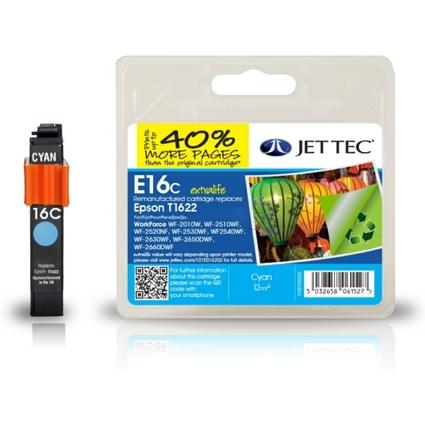 JET TEC wiederbefüllte Tinte E16C ersetzt EPSON T1622, cyan