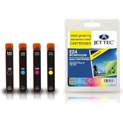 JET TEC Multi-Pack Tinte E24 ersetzt EPSON T2421-T2426