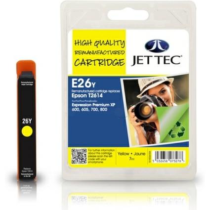 JET TEC wiederbefüllte Tinte E26Y ersetzt EPSON T2614, gelb