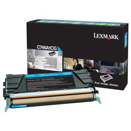 Original Toner für LEXMARK C746/C748, cyan