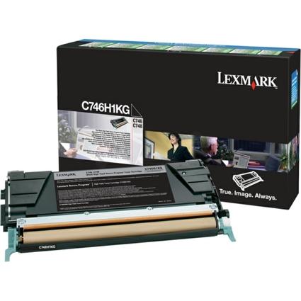 Original Toner für LEXMARK C746/C748, schwarz HC