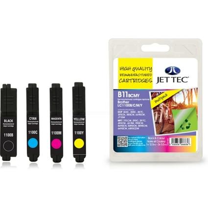 JET TEC wiederbefüllte Tinte B11B/C/M/Y ersetzt brother