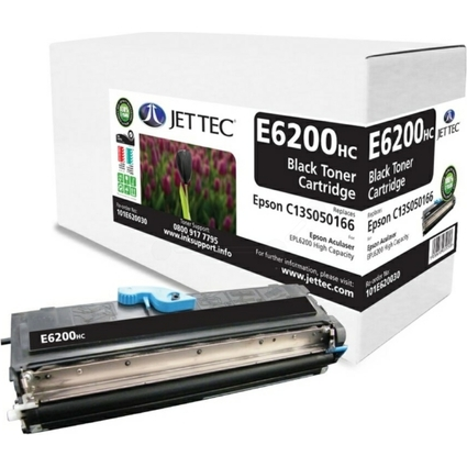 JET TEC Toner E6200HC ersetzt EPSON C13S050166, schwarz