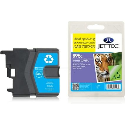 JET TEC wiederbefüllte Tinte B95C ersetzt brother LC-985C