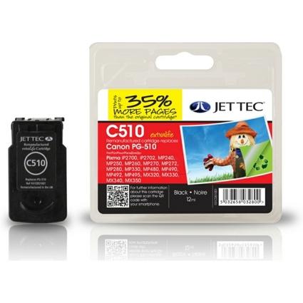 JET TEC Tinte C510 ersetzt Canon PG-510, schwarz