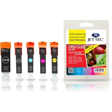JET TEC wiederbefüllte Tinte CP52B ersetzt Canon PGI-520BK/