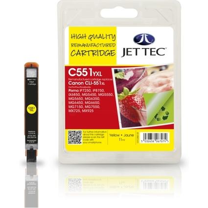 JET TEC wiederbefüllte Tinte BL51Y ersetzt Canon CLI-551Y
