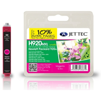 JET TEC wiederbefüllte Tinte HP920MXL ersetzt CD973AE/