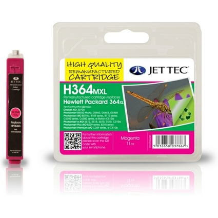 JET TEC wiederbefüllte Tinte H364MXL ersetzt hp CB324EE/
