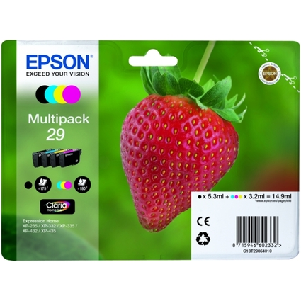 Original EPSON Tinte 29 für Expression Home XP-235, Multipac