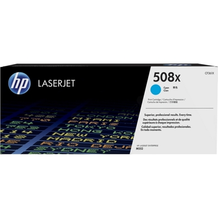 Original Toner No.508X CF361X für hp Color LaserJet, cyan HC