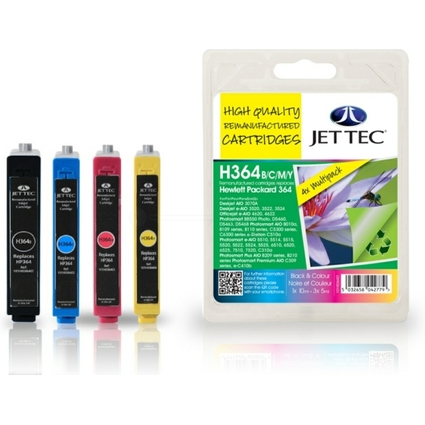 JET TEC wiederbefüllte Tinte H364BCMY ersetzt hp 364