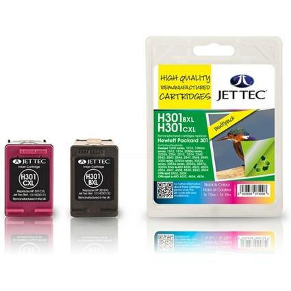 JET TEC wiederbefüllte Tinte H301XLB/C ersetzt hp HP301XL/