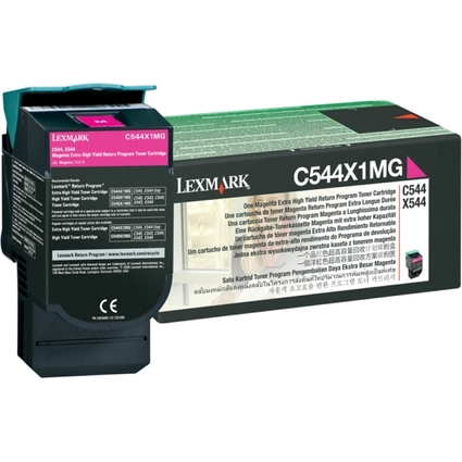 Original Rückgabe-Toner für LEXMARK C544/X544, magenta