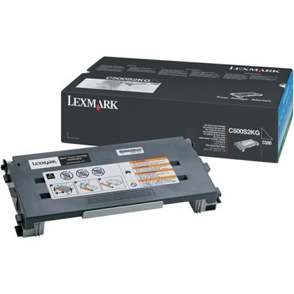 Original Toner für LEXMARK C500N, schwarz