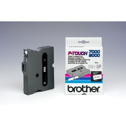 brother TX-Tape TX-231 Schriftbandkassette, Bandbreite: 12mm