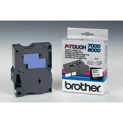 brother TX-Tape TX-241 Schriftbandkassette, Bandbreite: 18mm