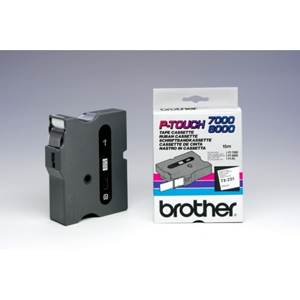 brother TX-Tape TX-251 Schriftbandkassette, Bandbreite: 24mm