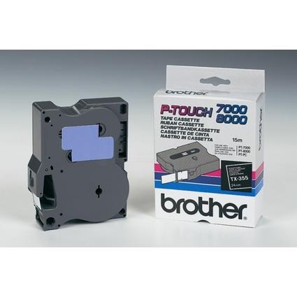 brother TX-Tape TX-355 Schriftbandkassette, Bandbreite: 24mm