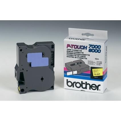 brother TX-Tape TX-641 Schriftbandkassette, Bandbreite: 18mm