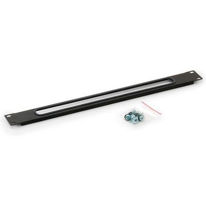TRITON Kabeldurchführungsplatte 1 HE, schwarz (RAL 9005)