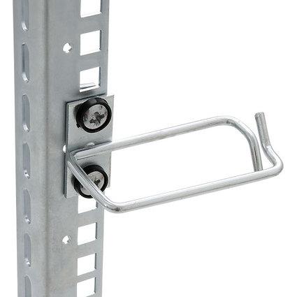 """TRITON 19"""" Kabelbügel D3, 40 x 40 mm, lichtgrau (RAL 7035)"""