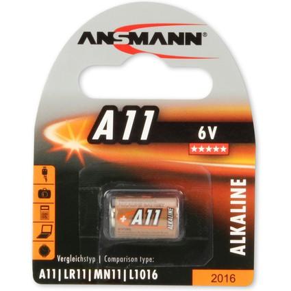 ANSMANN Alkaline Batterie A11, 6 Volt, 1er Blister
