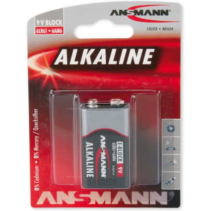 "ANSMANN Alkaline ""RED"" Batterie, 9V E-Block"