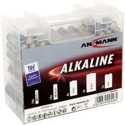 """ANSMANN Alkaline """"RED"""" Batterie Box, 35er Box"""