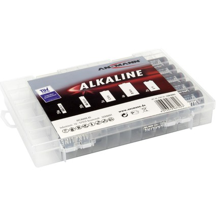 "ANSMANN Alkaline ""RED"" Batterie Box, 55er Box"