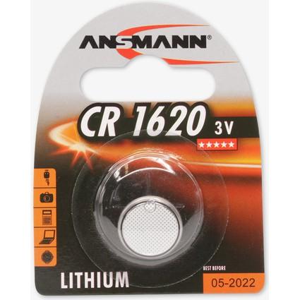 """ANSMANN Lithium Knopfzelle """"CR1620"""", 3,0 Volt, 1er-Blister"""
