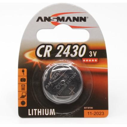 """ANSMANN Lithium Knopfzelle """"CR2430"""", 3,0 Volt, 1er-Blister"""