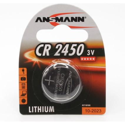 """ANSMANN Lithium Knopfzelle """"CR2450"""", 3,0 Volt, 1er-Blister"""