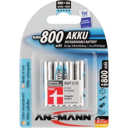 ANSMANN NiMH Akku maxE, Micro (AAA) 800 mAh, 4er Blister
