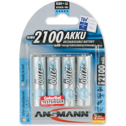 ANSMANN NiMH Akku maxE, Mignon (AA) 2.100 mAh, 4er Blister