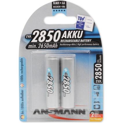 ANSMANN NiMH Akku Premium, Mignon AA, 2.850 mAh, 2er Blister