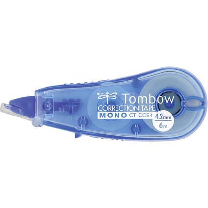 "TOMBOW Korrekturroller ""MONO CT-CCE4"", 4,2 mm x 6 m, blau"