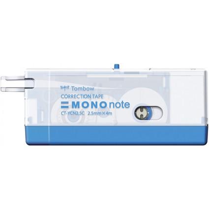 """Tombow Korrekturroller """"MONO note"""", 2,5 mm x 4 m, blau"""