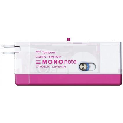 "Tombow Korrekturroller ""MONO note"", 2,5 mm x 4 m, pink"