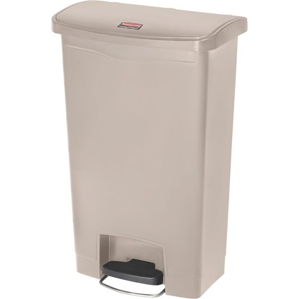 Rubbermaid Tret-Abfalleimer Slim Jim, 50 Liter, beige