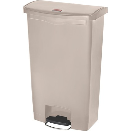 Rubbermaid Tret-Abfalleimer Slim Jim, 68 Liter, beige