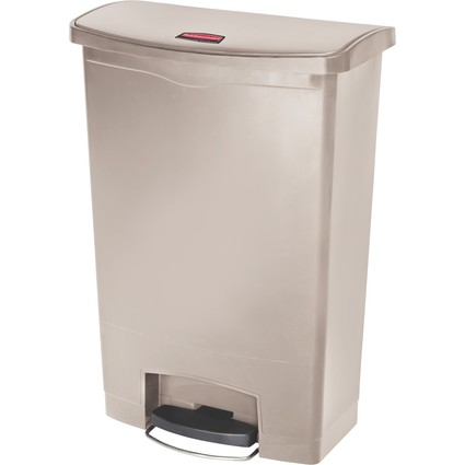 Rubbermaid Tret-Abfalleimer Slim Jim, 90 Liter, beige