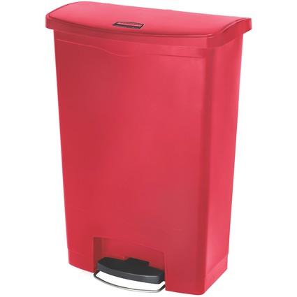 Rubbermaid Tret-Abfalleimer Slim Jim, 90 Liter, rot